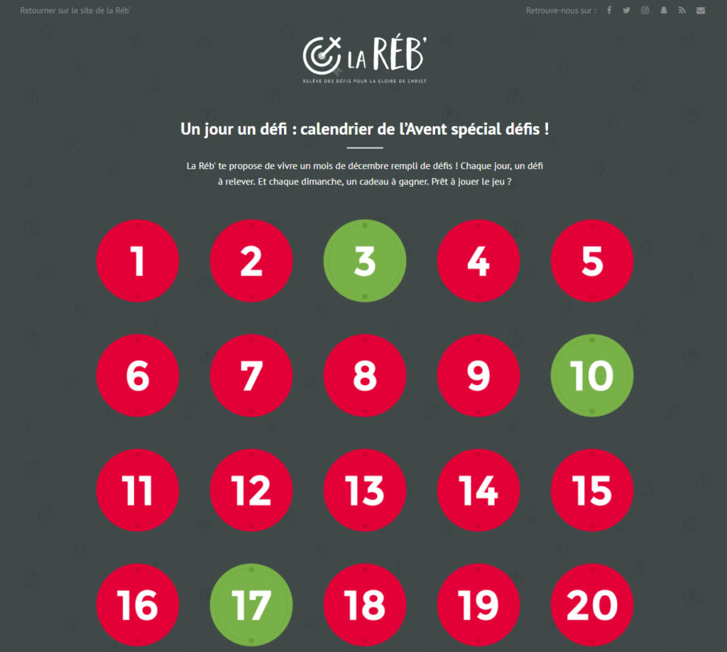 calendrier avent defis