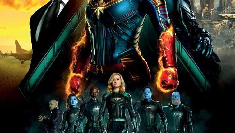 Affiche film captain marvel venant du site atlantic-cine.fr