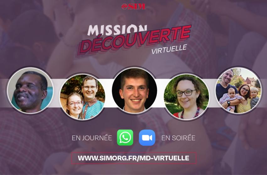 Du 26 au 28 octobre : viens découvrir la mission de manière virtuelle, avec la SIM !